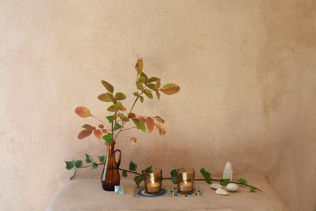 Décoration naturelle avec mur texturé