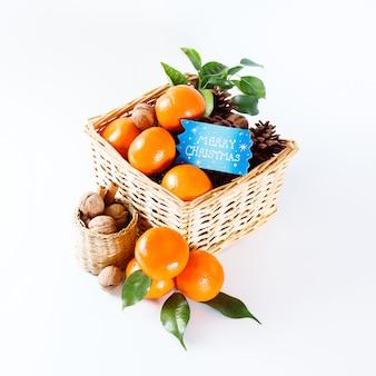 Décoration de noël aux mandarines