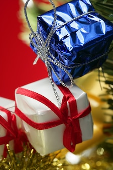 Décoration de noël, cadeaux de noël, rouge