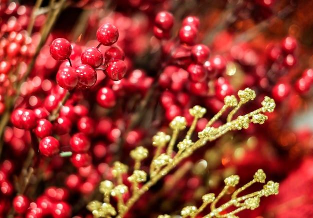 Décoration de noël ilex verticillata ou houx winterberry