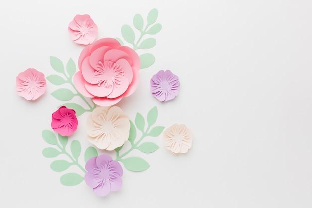 Décoration en papier floral