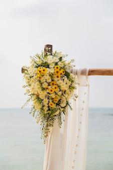Décoration de plage de mariage