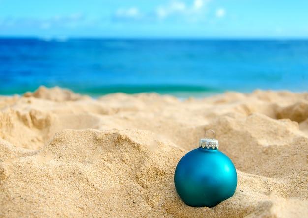 Décoration de plage et de noël tropicale
