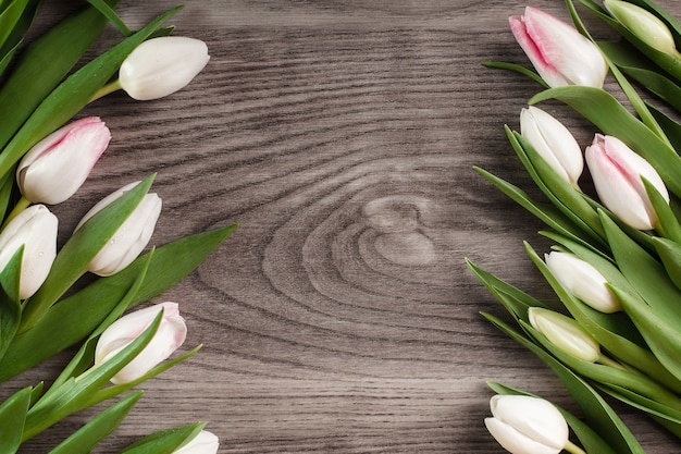 Décoration rustique de tulipes lumineuses