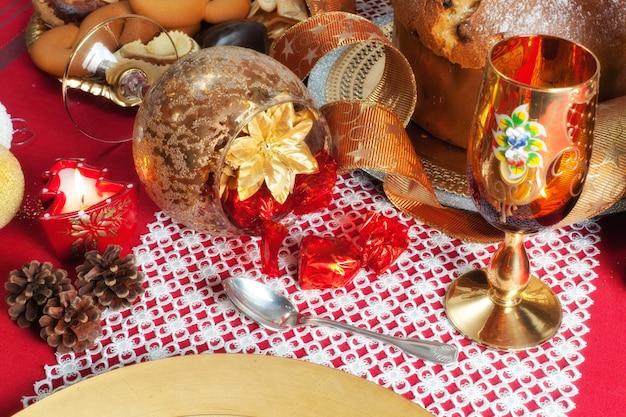 Décoration de table de dîner de noël