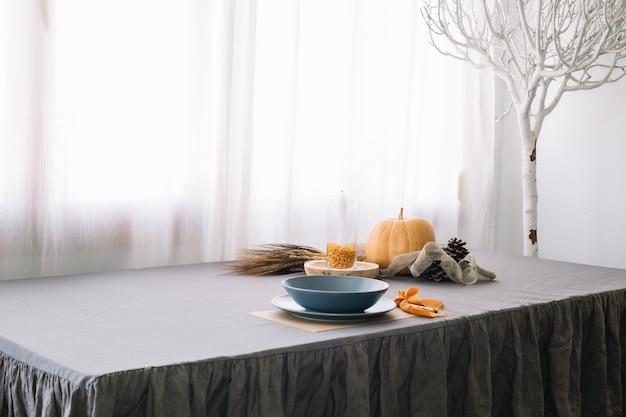 Décoration de table de thanksgiving