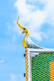 Décoration thailande haut bleu religieux