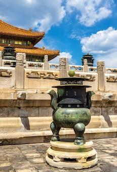 Décorations de la cité interdite - pékin, chine