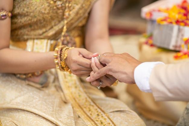 Décorations de mariage traditionnel thaïlandais