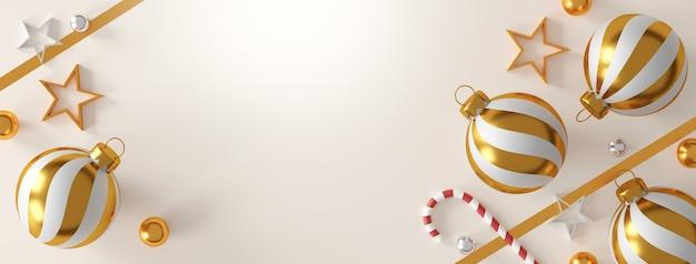 Décorations de noël et bonne année sur fond blanc