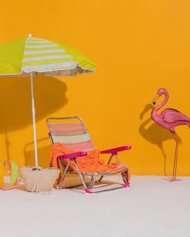 Décorations de plage en studio