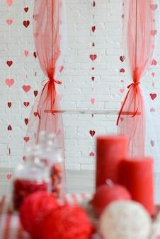 Décorations pour la saint-valentin. il peut être utilisé comme arrière-plan