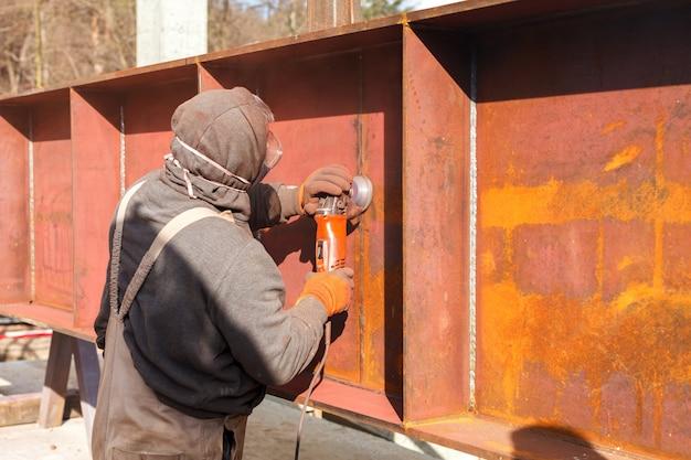 Découpe de l'industrie lourde en acier par flex électrique