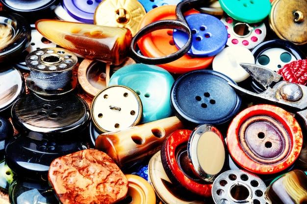 Définir les boutons de couture