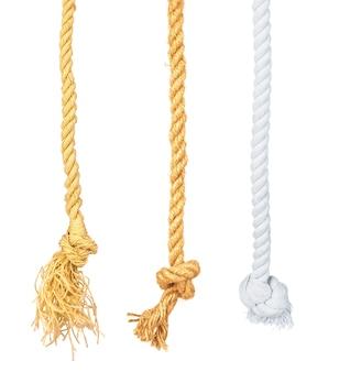 Définir la corde du navire avec noeud isolé sur fond blanc