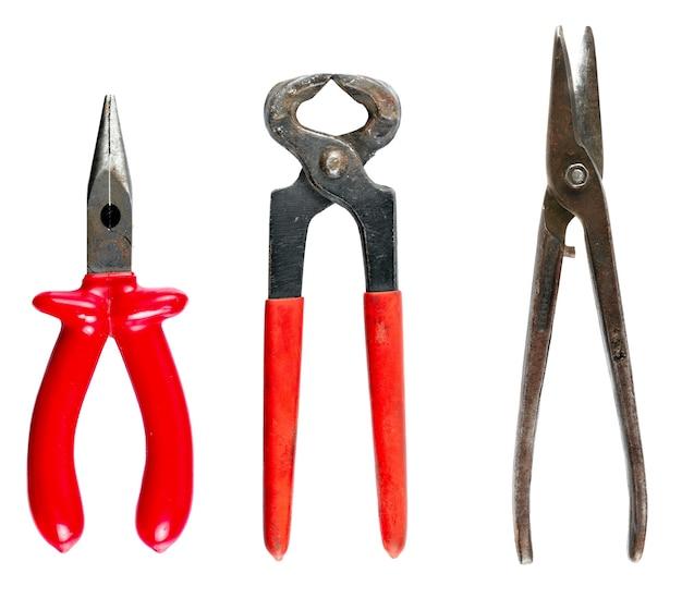 Définir des outils pour la réparation de la maison. sont isolés sur fond blanc