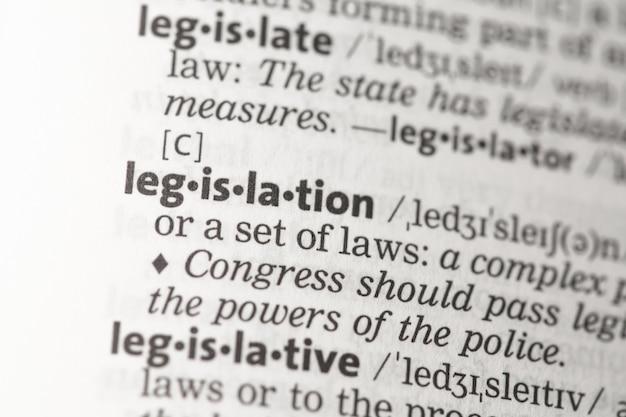 Définition de la législation