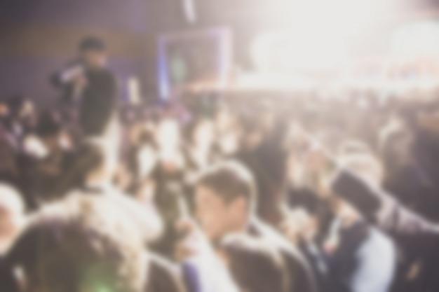 Défocalisation du thème de la cérémonie de remise des prix. contexte pour le concept d'entreprise de succès