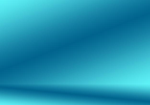 Dégradé fond abstrait bleu. bleu foncé lisse avec vignette noire studio