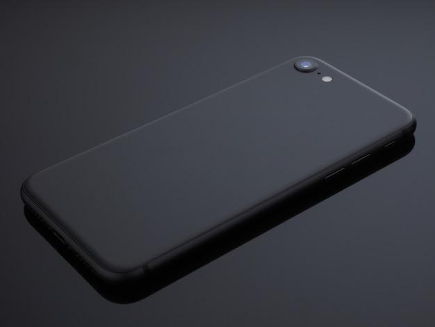Dégradé de lumière studio gris smartphone noir shoot