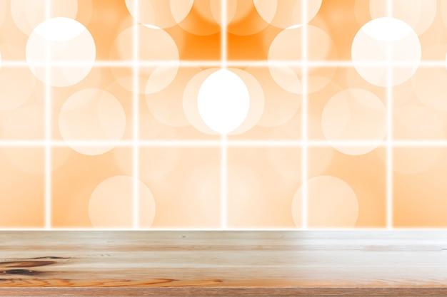 Dégradé résumé orange flou fond de lumières de tonalité