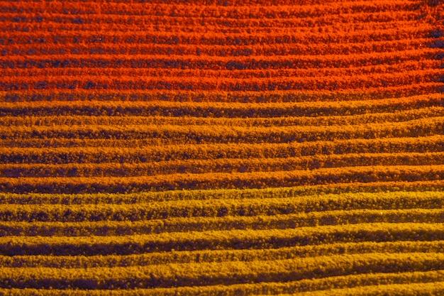 Dégrader les couleurs avec des lignes de sable