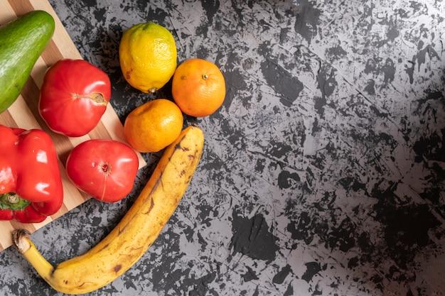 Dégradés de fruits et légumes du jardin