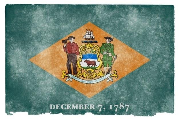 Delaware drapeau grunge