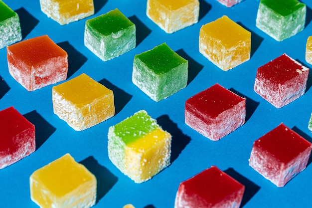 Délice turc de forme carrée bonbons lokum photo en gros