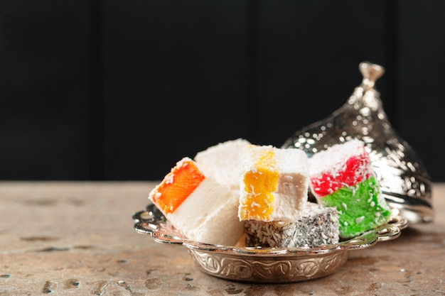 Délices turcs colorés délicieux
