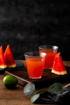Délicieuse boisson à la pastèque