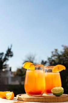Délicieuse composition de boisson michelada