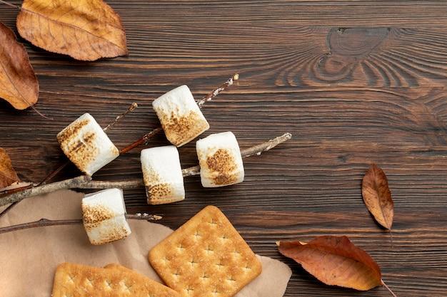 Délicieuse composition de dessert s'mores