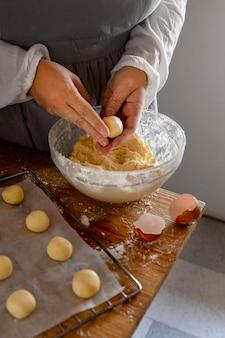 Délicieuse composition de fabrication de pain au fromage