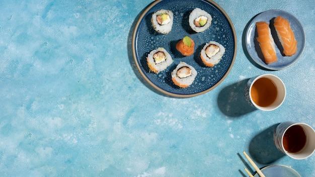 Délicieuse cuisine asiatique avec espace de copie