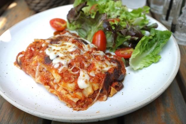 Délicieuse lasagne à la viande