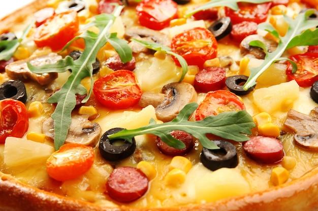 Délicieuse pizza, gros plan