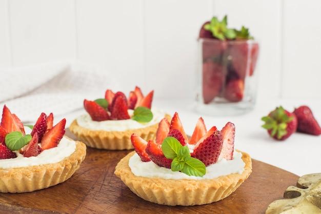 Délicieuse tarte aux fraises