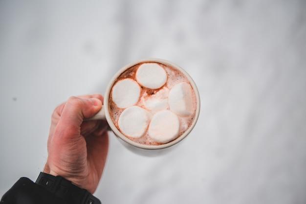 Délicieuse tasse de chocolat