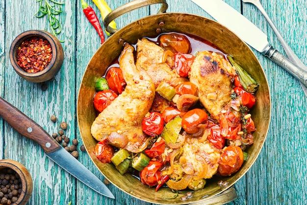 Délicieuse viande de poulet