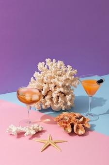 Délicieuses boissons d'été nature morte