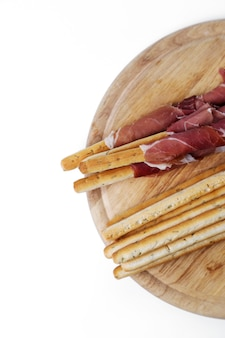 Délicieuses collations sur planche de bois