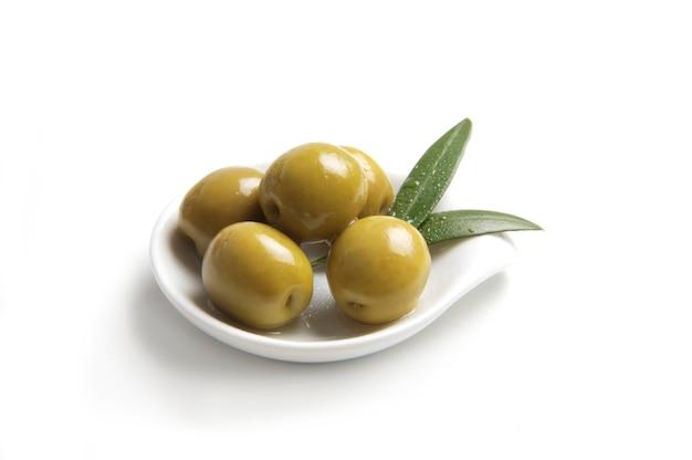 Délicieuses olives vertes d'espagne