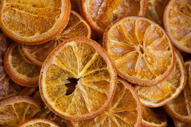 Délicieuses oranges séchées