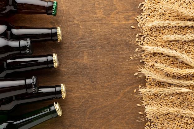 Délicieux arrangement de bière américaine