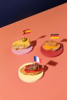 Délicieux arrangement de nourriture de tapas