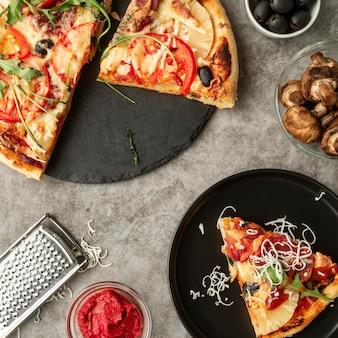 Délicieux assortiment de pizzas traditionnelles