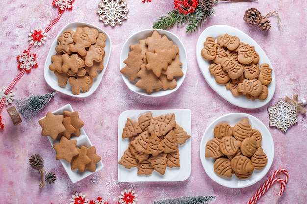 De délicieux biscuits au pain d'épice faits maison.