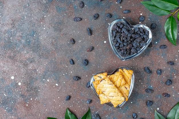 Délicieux biscuits aux raisins secs