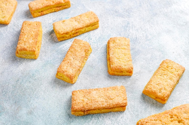 Délicieux biscuits à la noix de coco faits maison.